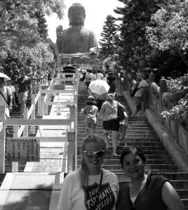 Completed climb, eyeing the final 286 steps to Buddha.