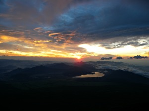 Above the clouds. Sunrise @ 10,000 ft., July 14, 2014.